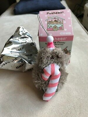 Gund Pusheen Blind Box NEW - Pip Candy Cane - Series 8 Christmas Sweets Cat
