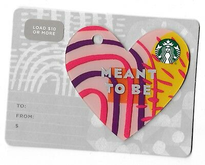 Starbucks collectible gift card no value mint #184 Meant to be