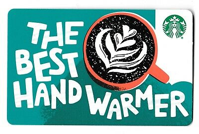 Starbucks collectible gift card no value mint #188 The Best Hand Warmer