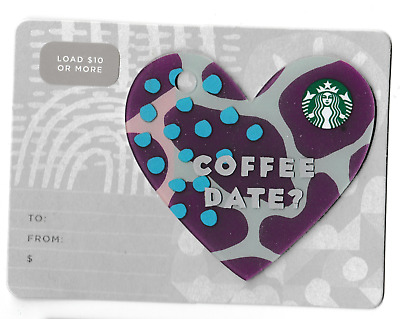 Starbucks collectible gift card no value mint #185 Coffee Date