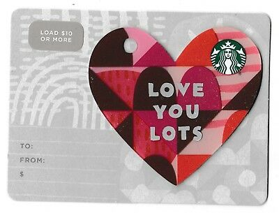Starbucks collectible gift card no value mint #183 Love You Lots