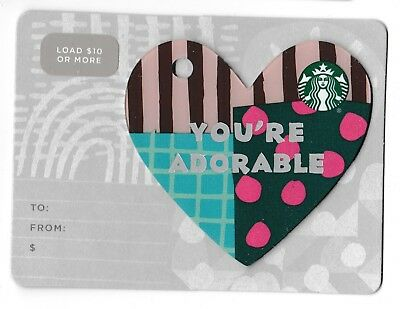 Starbucks collectible gift card no value mint #187 You're Adorable