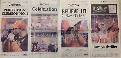 2016 & 2018 Clemson University Tigers National Champions - The State Newspaper