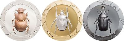 2017 $5 Cook Islands Scarab Selection 2 3-Coin Silver Proof Set