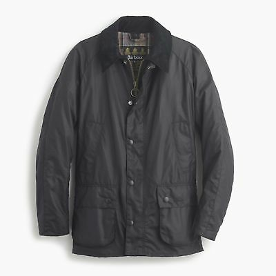 NWT Barbour Men's Ashby Waxed Jacket Navy Blue - Small