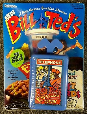 Bill & Ted's Excellent Cereal Unopened Box 1991