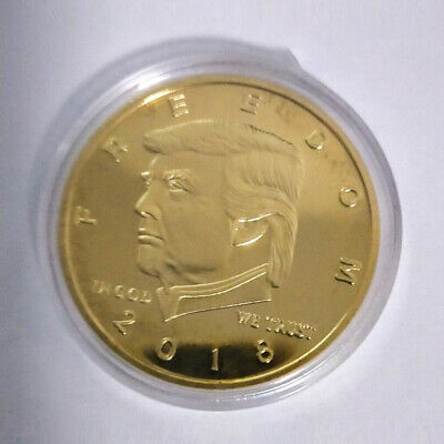 2018 Collectibles US President Donald Trump Gold Plated Commemorative Coin Hot E