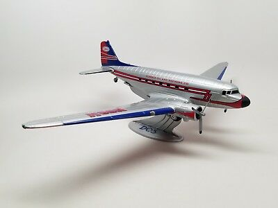 ERTYL DC-3 Airplane Toy N98H Humble Oil and Refining Co. W/ Stand NM/M
