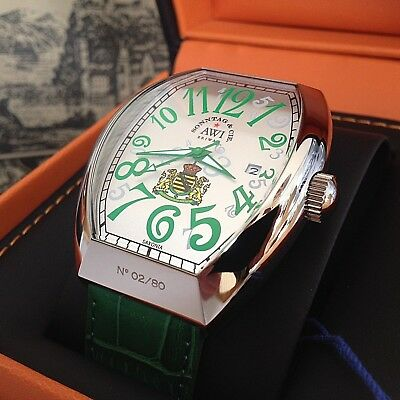 "Limit. Serie ""Saxonia"" * Basis: Cintree Curvex Franck Muller Gr. * No. 46 von 80"