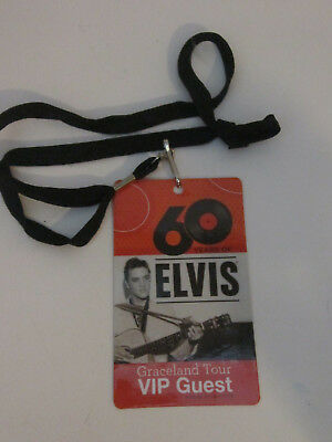 Rare Elvis 60 Years Of Hits Vip Graceland Tour Pass Estate Find