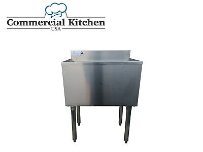 """Underbar Stainless Steel Commercial NSF 77lb Ice Bin 18""""x24"""" Under Bar Free Ship"""