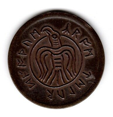 Conan coin token Crom Counts the Dead from the Hyborian Age Vulture and skull