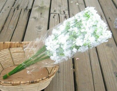 6Pcs Silk Flower White Baby's Breath Artificial Wedding Fake Floral Bridal Decor