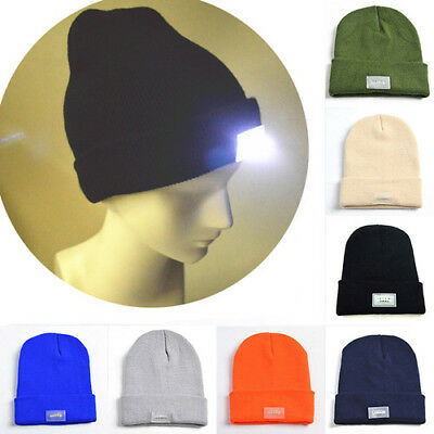 61ba41d662f 8 color 5 LED Lighted Cap Hat Winter Warm Beanie Angling Hunting Camping  Running