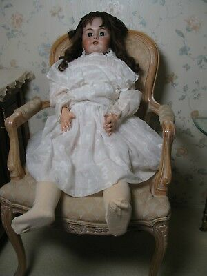 Huge 36'' Antique Bisque Head French Doll Marked Dep. Circa 1890