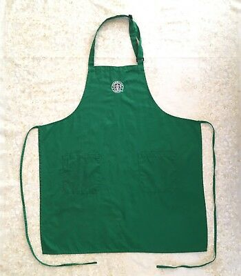 Starbucks Apron Green Siren Logo Pockets Barista Employee Uniform