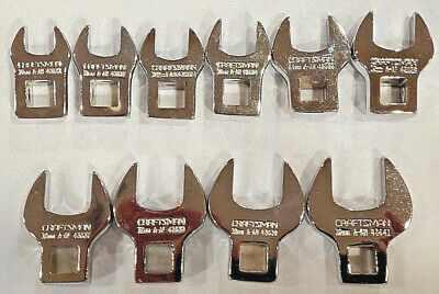 "Craftsman 10-PC METRIC 3/8"" Drive Crowfoot Wrench Set 9_4363 (Full Polish)"