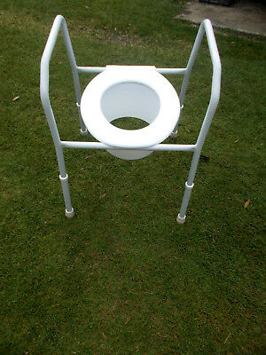 WHITE CARE QUIP- TOILET AID COMMODE OVER TOILET SEAT ADJUSTABLE MAX WEIGHT 125kg