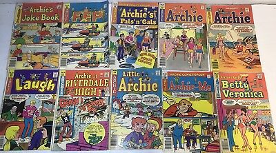 Huge Lot Of 100 Archie Comics W/The Riverdale Gang, Jughead, Betty Silver Age