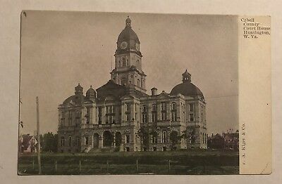 Pre 1907 Cabell County Courthouse Postcard Huntington, WV West Virginia