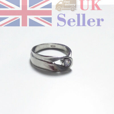 Silver Plated Rings Fashion Girl Engagement Party Holiday Simple Gift Size 6-10