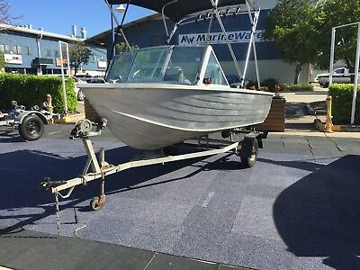 3.7m Clark High Sided Tinny with 20Hp Mariner Outboard & Trailer
