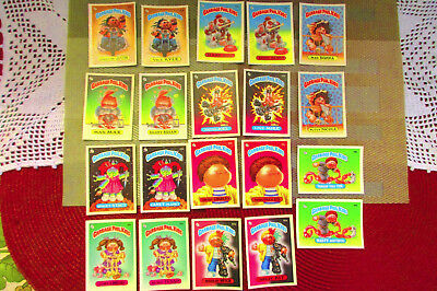 Lot Of 20 Garbage Pail Kids Cards Stickers 1985 Topps Chewing Gum 2nd Series