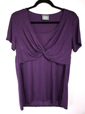 Milk Nursingwear Purple Blouse One Size