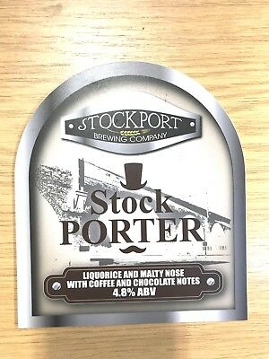 Stock Porter Beer Pump Clip Badge Stockport Brewery Coffee Porter Top Hat