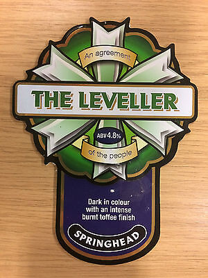 The Leveller Beer Pump Clip: Springhead Brewery, Nottinghamshire