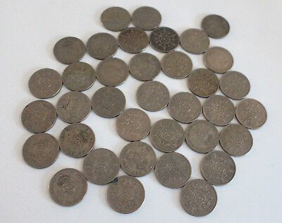 46 X Florins 2 Shilling Coins 1948 to 1967