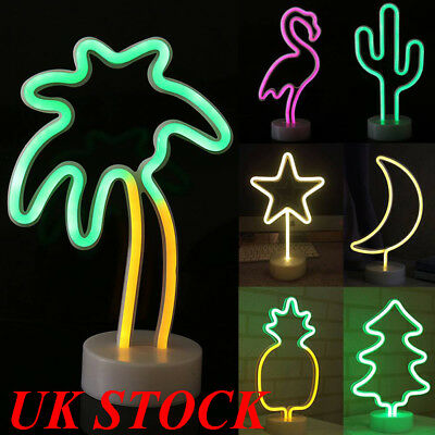 LED Neon Light Sign Stand Light  Photo Prop Lamp Battery Operated Nursery Lights