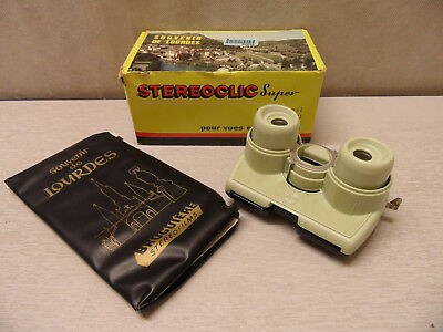 Vintage Stereoclic Super 3D Viewer for Colour Slides - Souvenir De Lourdes
