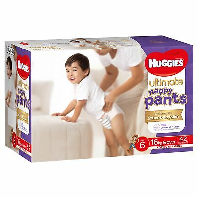 Huggies Ultimate Nappy Pant - Junior - Size 6/16+kg - Jumbo 42 Pack