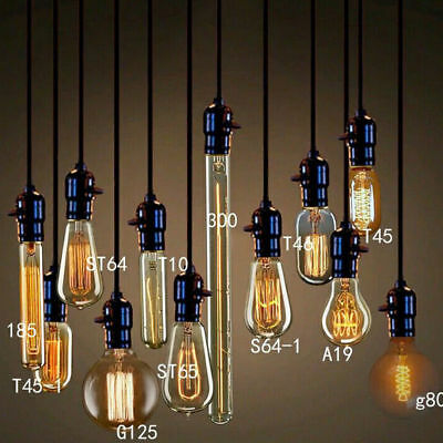 E27  Screw 40W Vintage Antique Retro Style Light Filament Edison Lamp Bulb 220V
