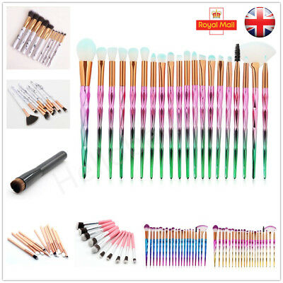 20x Colourful Kabuki Professional Make-up Brush Set Brushes Blusher Face Powder