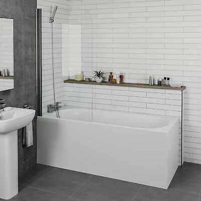 Modern Bathroom Straight Single Ended Bathtub 1700mm Bath Screen & Panel Options