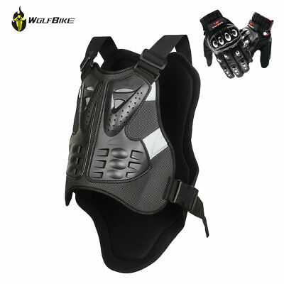 Motorcycle Motorbike Chest Armor Vests Motocross Full Finger Touch Screen Gloves