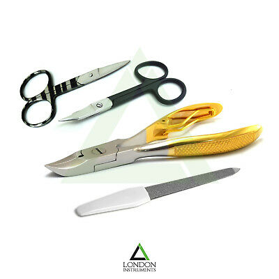 Set Of 4 Chiropody Podiatry Instruments Manicure Pedicure Thick Nail Heavy Duty