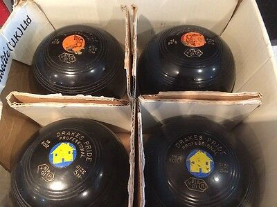 4 Set Drakes Pride Professional Bowls Size 5m Date Stamped 2001 H88012