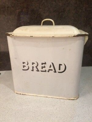 As Found Vintage Distressed Large Bread Bin Totally Unrestored