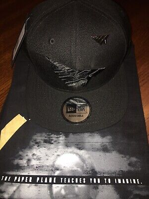 c5d35645fe2 Roc Nation Blackout Old School Hat With Pin Paper Planes Jay-Z Hat