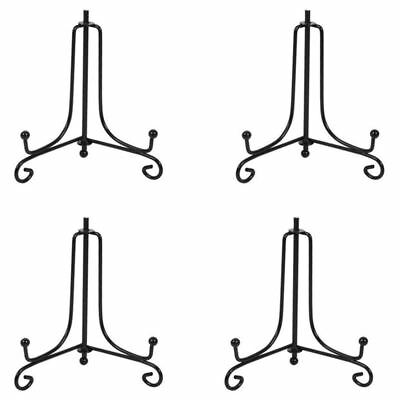 (4 packIron Display Stand, Black Iron Easel Plate Display Photo Holder Stan L2A4