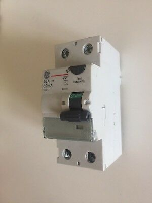 GE General Electric 63A 30MA RCD RCCB 2 DOUBLE POLE FP 240V 604196