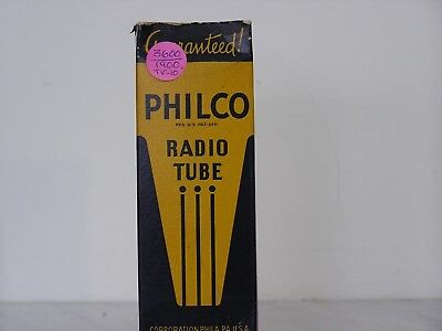 Philco 6A3 antique radio amplifier tube new in box tests NOS