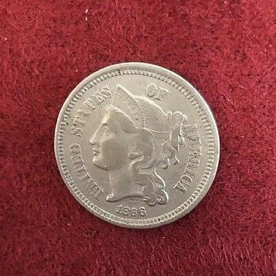.03c 1866-3 Cent Nickel-AU To Uncirculated Condition-Rare & Key Date