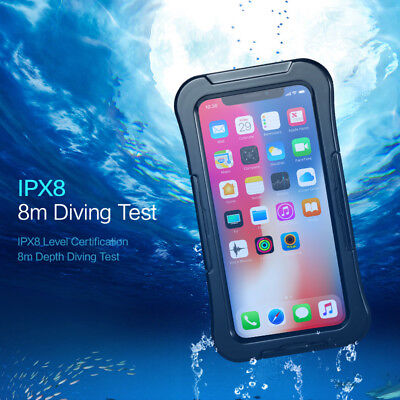 KISSCASE Waterproof Dustproof Case Shockproof Armor Cover Underwater Fr iPhone X