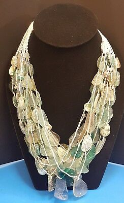 13 Strand Rare Found Beautiful Roman Glass Necklaces Deep & Excellent Patina #R7