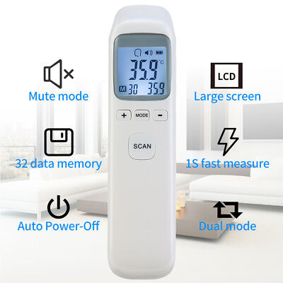 Non-contact Thermometer IR LCD Digital Body Forehead Temperature Meter Z9M3D