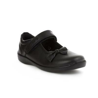 "Girls Buckle My Shoe Black Leather School Shoes ""twigg"" Rrp £34.99"